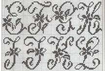 Xcross alphabet