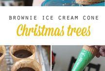 ice cream cones Christmas tree