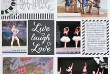 dance recital scrapbook pages