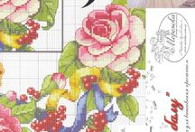 jagody i róże na sukienkę