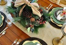christmas tablescaping