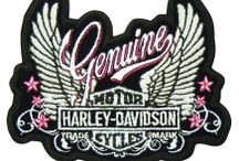 Harley Davidson / Harley Davidson patches are manufactured by Global Products, Inc., with a customized backing printed with the Global Products logo, verifying the authenticity of each Harley Patch.