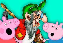 Свинка ПЕППА и Баба ЯГА на ПЕННОЙ ВЕЧЕРИНКЕ Джордж боится МОНСТРОВ в лесу Мультик из игрушек
