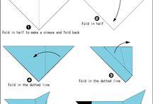 Origami / vouwen  / Voorbeelden