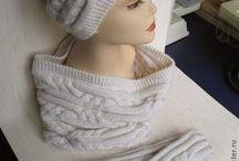 Вязание шапки, снуды