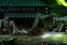 side scrolling game - background