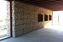 Stone gabions
