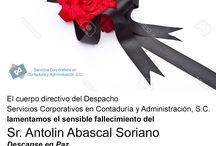 Sr. Antolin Abascal Soriano / lamentamos el sensible fallecimiento del  Sr. Antolin Abascal Soriano Descanse en Paz.