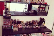 Vanities and makeup organization