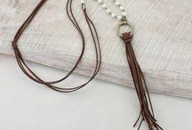 suede cord necklaces