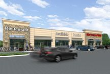 Retail / Schematic Renderings for Strip Center Retail Buildings