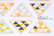 Geometric Decorated Cookies