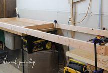 wood shelves garage