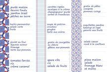 Cuisine idées menus / Idées Menus