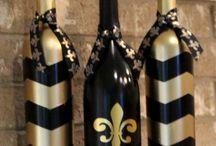 flaše čierne a zlate