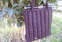 Bolso lila crochet