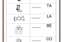 atividades com sílabas