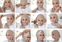 cara membuat jelbab