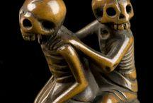 netsuke skulls