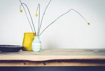Øje-blik tables / Table. Living room. wood work. hand crafted furniture. danish design from copenhagen.