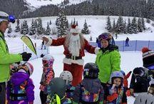Santa at Arapahoe Basin - Colorado Info / Arapahoe Basin Ski Area, Colorado at Christmastime
