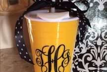 Solo Cup ideas / Different ideas for decorating the heavy plastic Solo cups found at Walmart