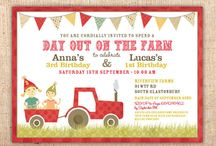 Farm Barnyard or Animal Themed Party Invitations