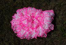 Rüschen Schals / Ich stricke die auch