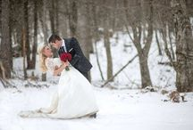 Winter inspiration wedding / Snowy christmas wed