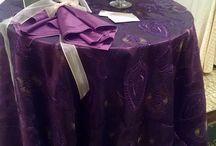 "New ""Romance"" Taffeta Table Linen Luxury / New and luxurious ""Romance"" taffeta table linen."