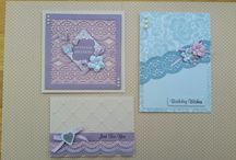 Cards made for Joanna Sheen Cardmaking Collection