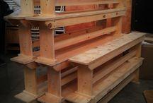 bancos madeira