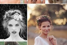 Wedding hair and floral crowns