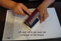How to use a brayer using different colours at the same time