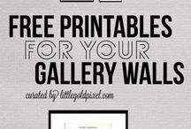 Gallery wall printables / by May Carolan