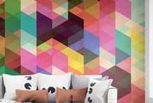 Geometric home decor / Geometric Homeware design