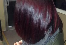 burgandy/magenta/raspberry/purple hair