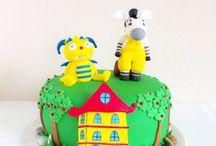 Tarta Henry abrazamonstruo y Zou la Cebra. / MEM Cakes & Cookies