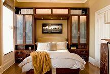 Bed Between Wardrobes