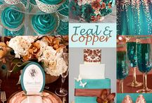 Teal and Copper wedding Inspiration