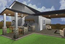 Outdoor bar and grill areas