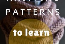 learners knitting patterns