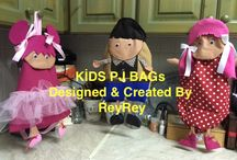 KİDS  PJ or PE BAGS / Created and designed by ReyRey