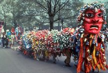 Earth Celebrations/Felicia Young- Recycle the Trash Monster / Earth Celebrations/Felicia Young- Recycle the Trash Monster created for Earth Day 1990-1995, Earth Day Parade 1990 Times Square, and World Trade Center 1991-1995. 50 foot-long dragon was created, paraded, and then recycled. Cans removed and recycled by We Can Recycling Center.