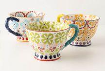 Cups / Porcelaine, metal etc
