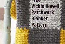 Crochet patchwork blankets
