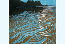 lino&woodcut prints