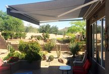 Tucson Patio Awning - Retractable Awning / The retractable Tucson Patio Awning is a high quality, custom built retractable awning.  Installing the Tucson Patio Awning to shade your deck or patio area will provide you with many years of shade and enjoyment.