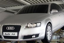 Audi A6 / 1:1 copy of an Audi A6. This radio controlled model was used at Audi A6 presentations and launches around the world