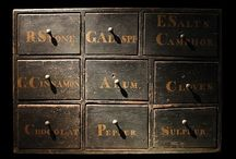 Spice Cabinets, Boxes, & Apothecaries / by Melody